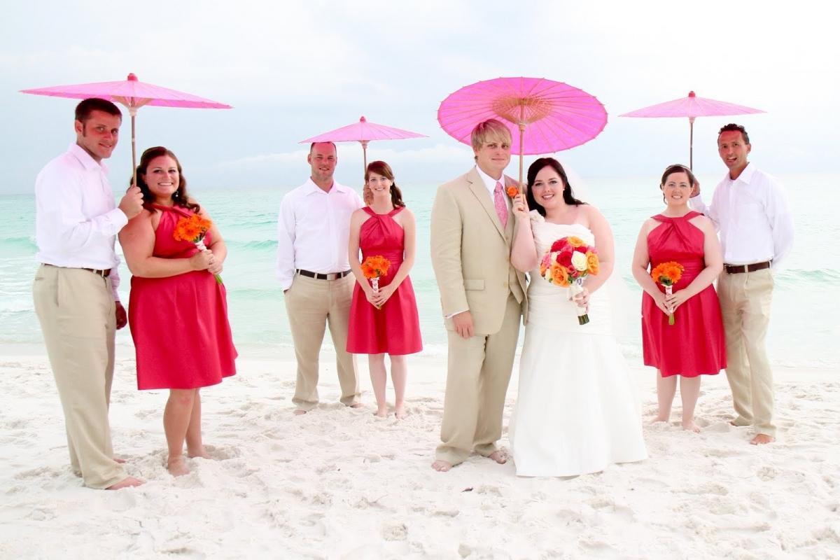 Parasol Umbrellas For Destin Beach Weddings