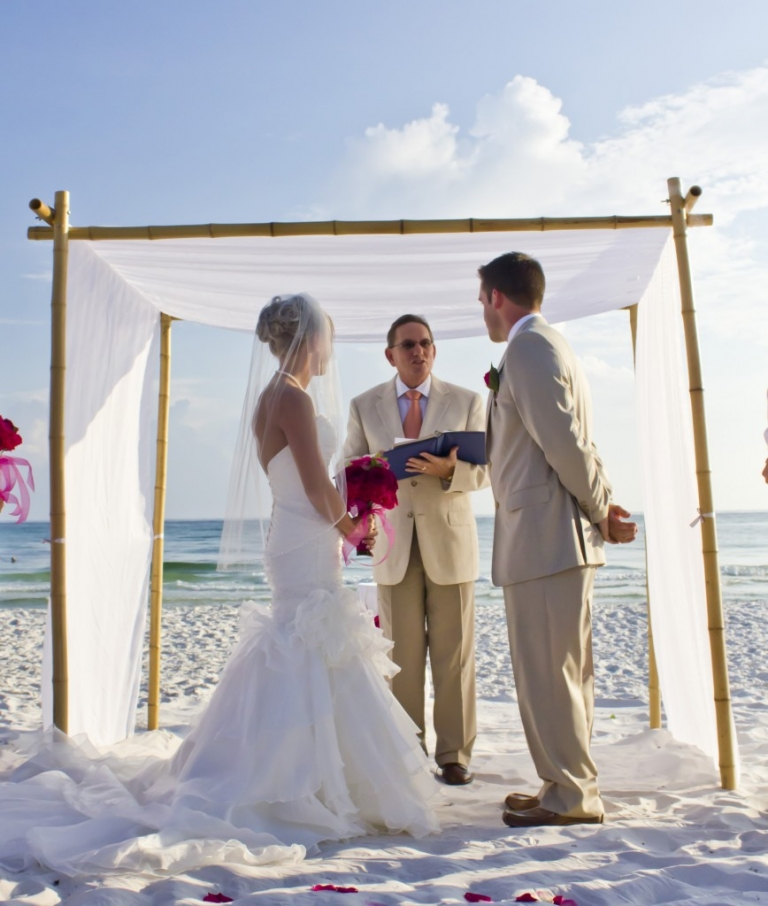 Florida Beach House Weddings: Real Princess Weddings (Panama City Beach House): Matt And