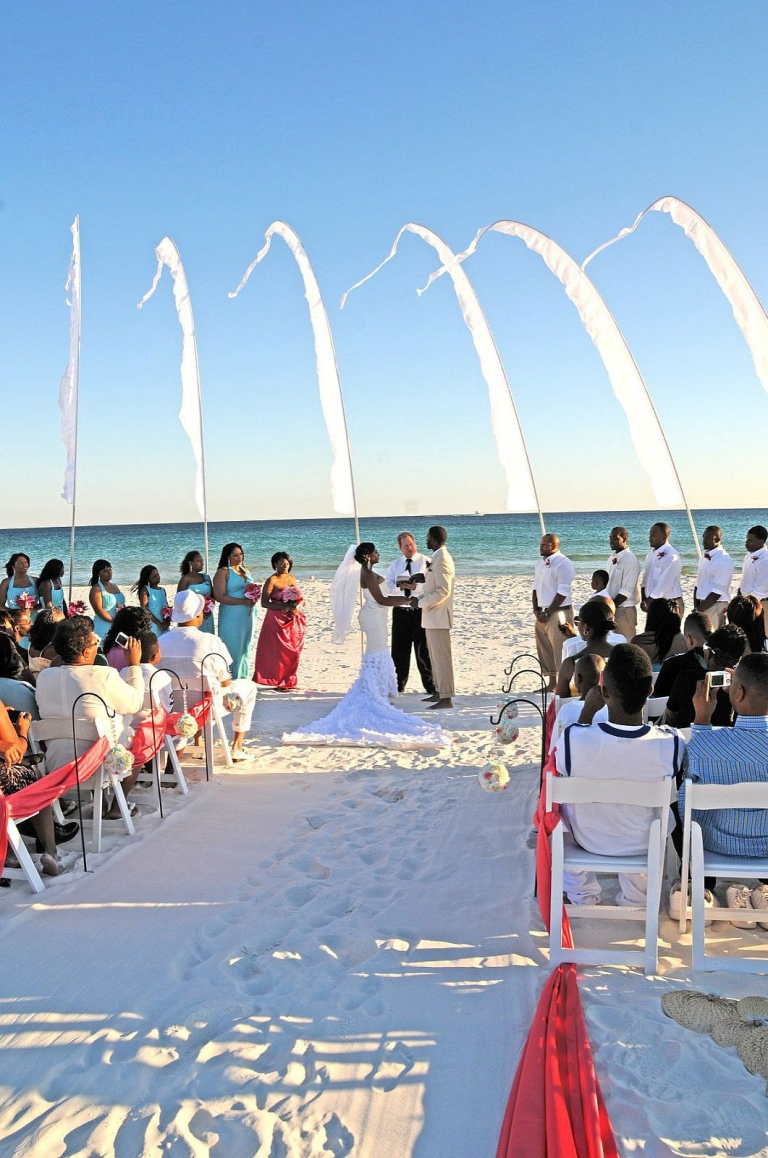 Real Princess Destin Beach Weddings Tiffany And Harvey
