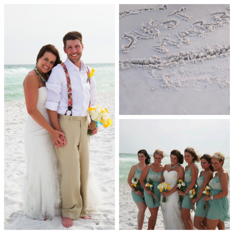 Florida Beach House Weddings: Real Princess Destin Beach Weddings: Samantha And Kyle