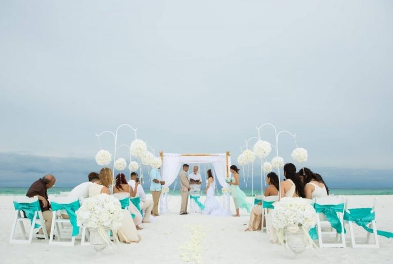 Destin Beach Wedding Ceremony Crystal Arbor