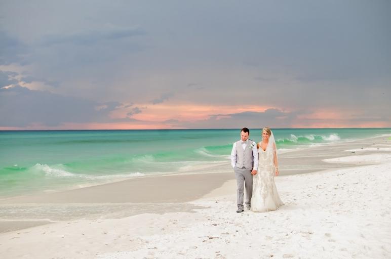 sunset beach wedding in destin florida