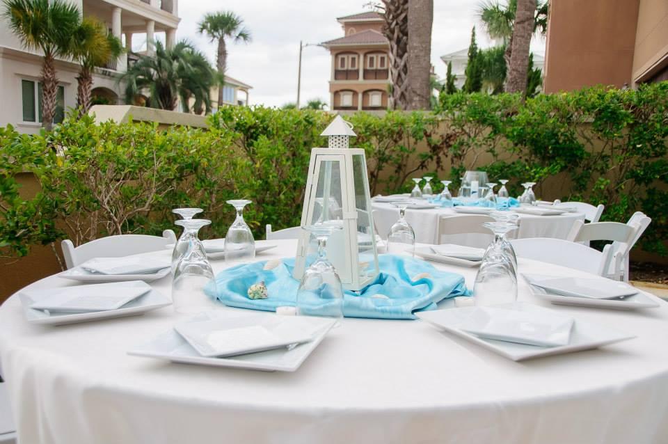 destin beach house reception - destin beach house wedding