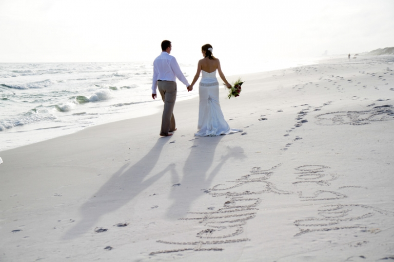 These Accompanied By A Perfect Sun Setting Over The Gulf Combine To Help Create Storybook Beach Wedding