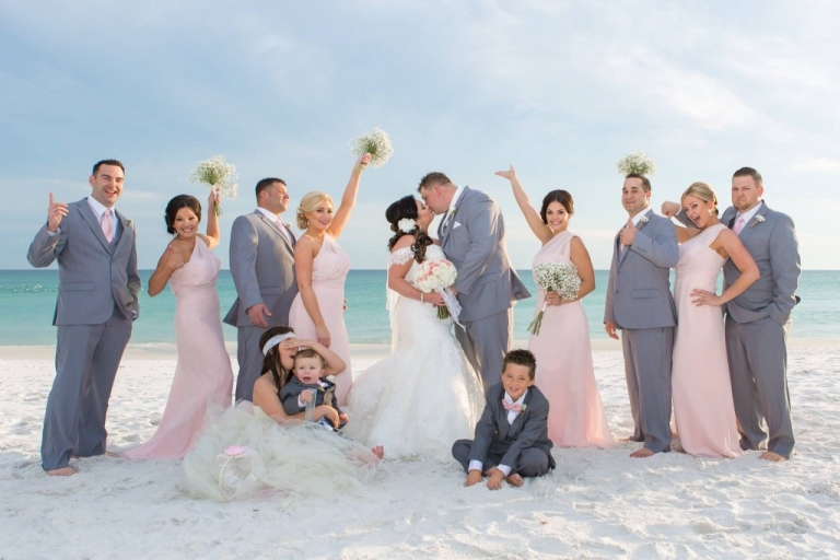 maya dolls wedding photography destin florida pink destin beach wedding
