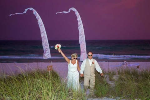 reception beach wedding corona del mar in Panama City beach