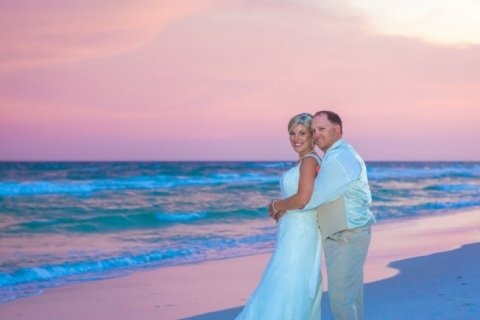 sunset beach wedding panama city beach wedding