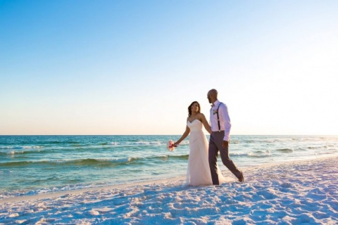 sunset pictures beach wedding destin