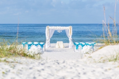 panama city beach wedding ceremony decorations