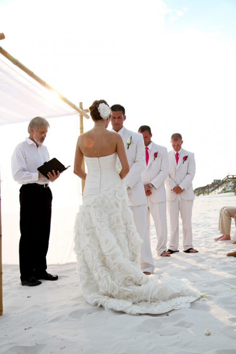 beach wedding ceremony panama city beach