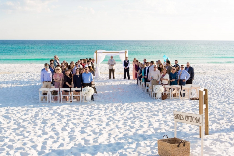 beach ceremony at henderson state park in destin florida