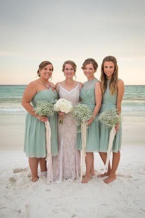 beach-bridesmaids-mint-dresses
