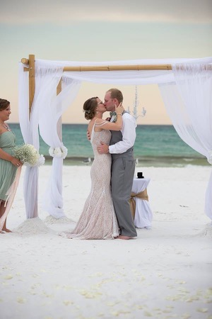 destin henderson park beach wedding ceremony