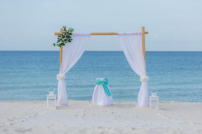 Beach Wedding Ceremony in Panama City Florida