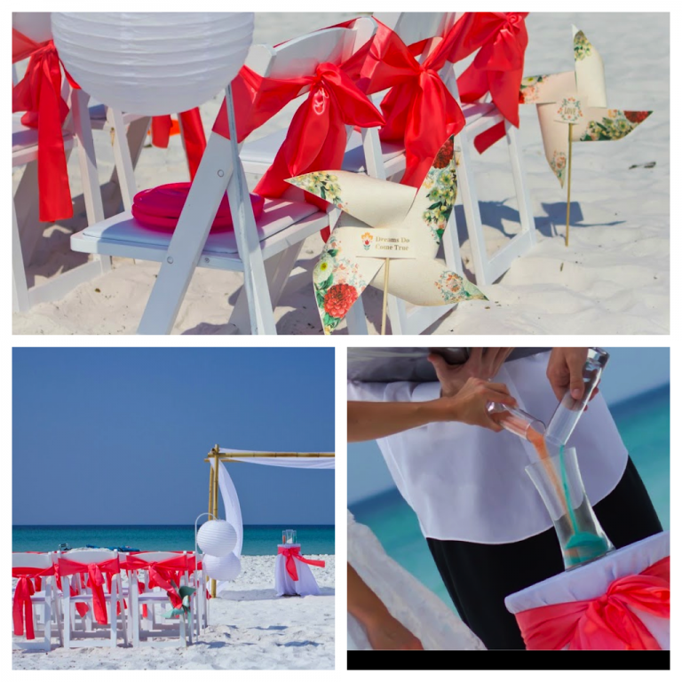 sanat rosa beach wedding ceremony