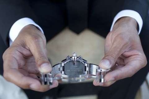 groom's gift from bride watch