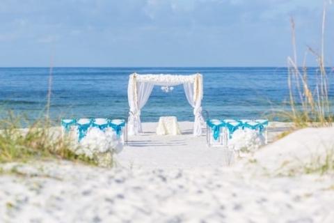 panama city beach wedding ceremony decorations