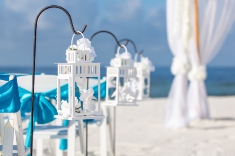 panama city beach wedding lanterns wedding aisle way decorations orchids