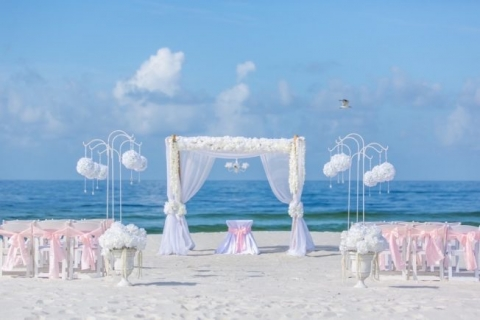 bamboo arbor shepard hooks panama city beach wedding ceremony florida