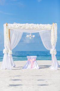 Bamboo Arbor Beach Wedding Florida