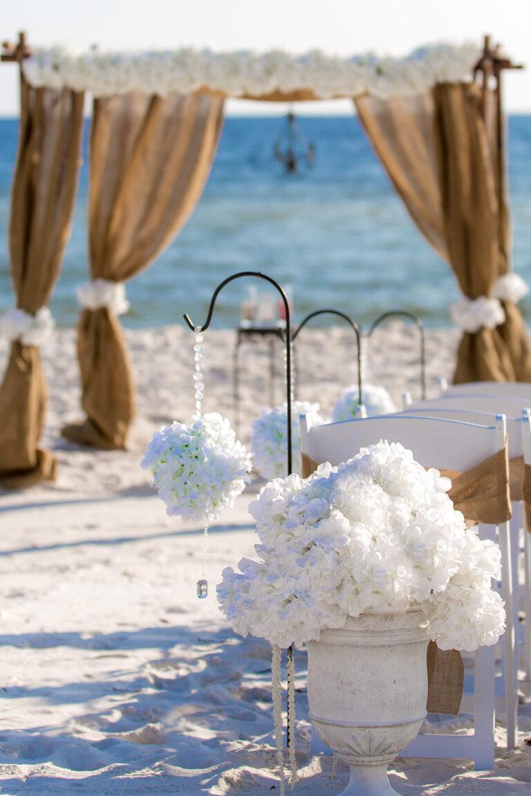 decorations for beach wedding gin Destin Florida