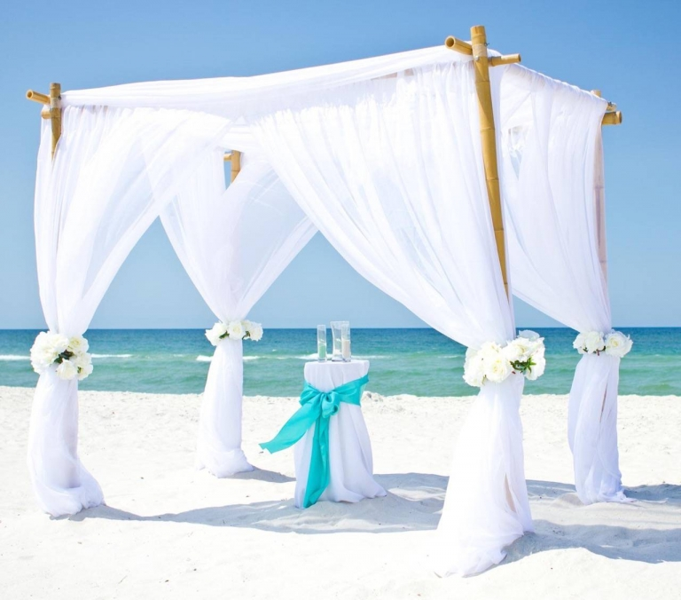 bamboo arbor beach destin wedding ceremony florida