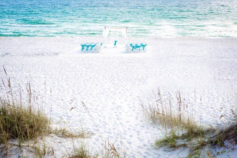 aqua beach destin wedding sashes