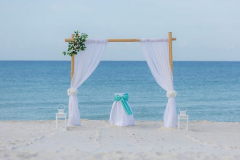 Beach Wedding Ceremony in Panama City Florida