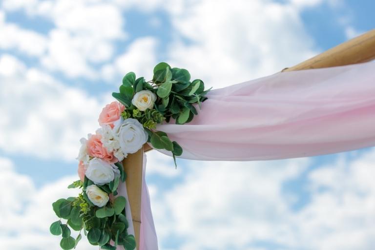 Panama City Beach Wedding arbor