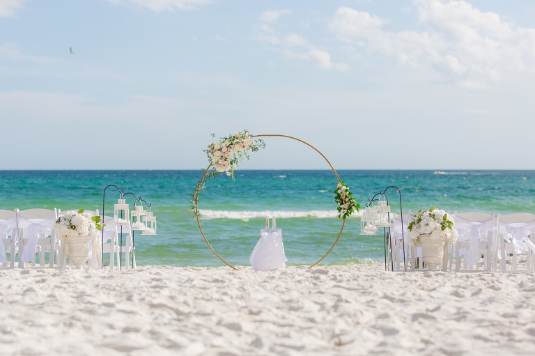 Destin coastal wedding